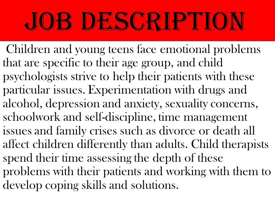 Child Behavior Therapist BY ASHLEY. Job Description Children and ...