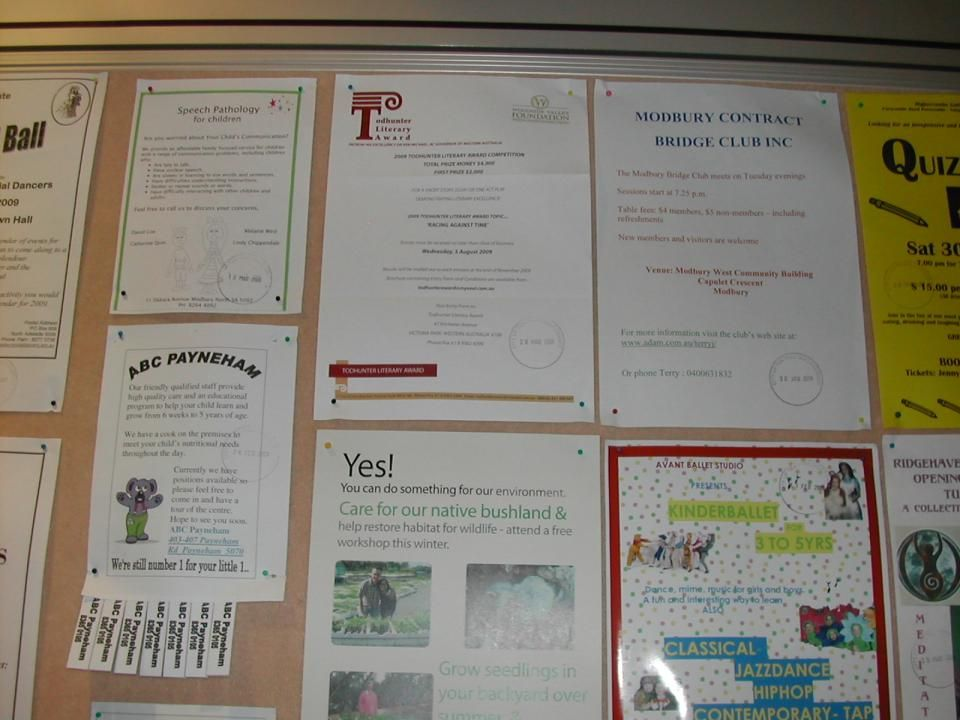 TTG Library Notice Board Semiotics For Analysis June Ppt Download