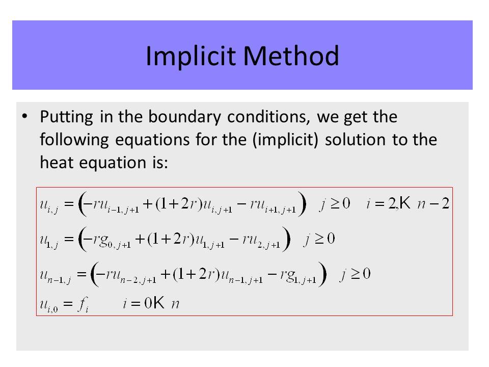 Scientific Computing Partial Differential Equations Implicit