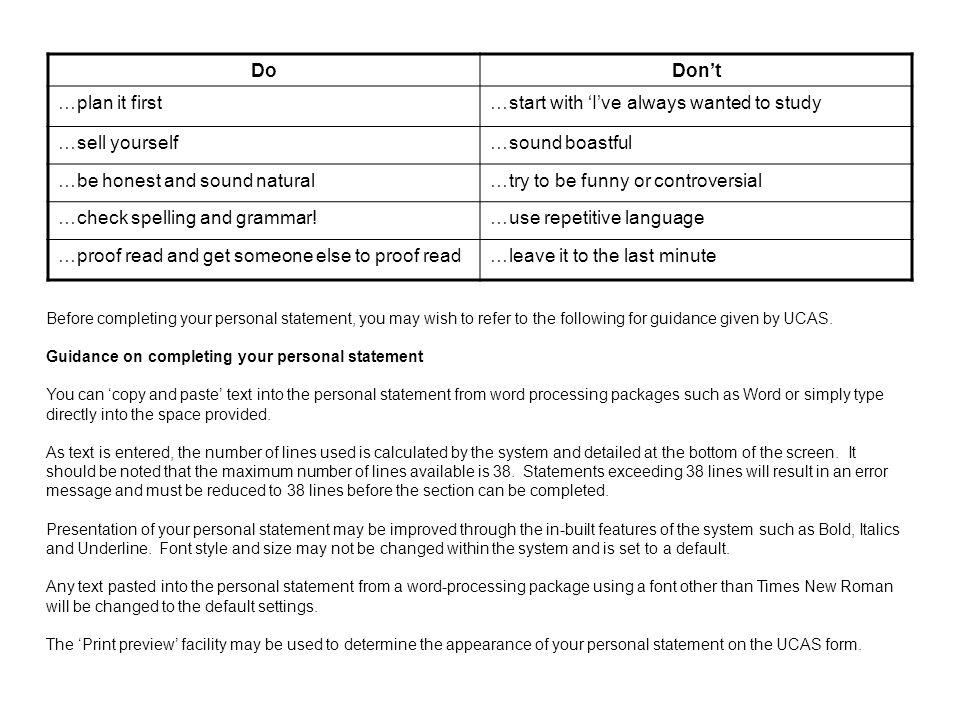 ucas personal statement spelling error