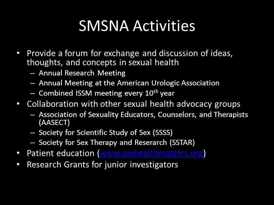 Sexual medical society of north america