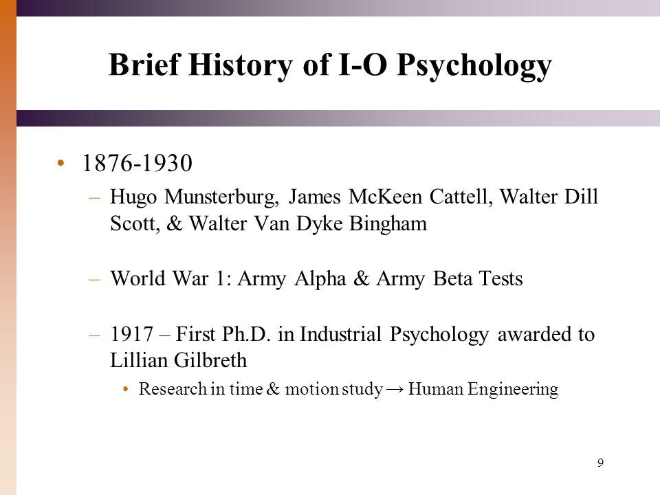 walter dill scott industrial organizational psychology