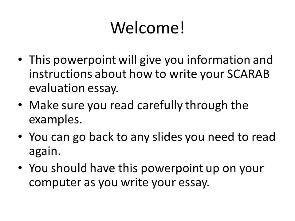 Help writing technology presentation