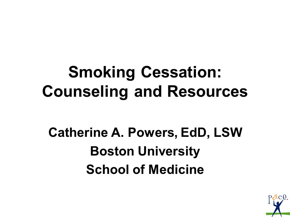 1 smoking cessation counseling and resources catherine