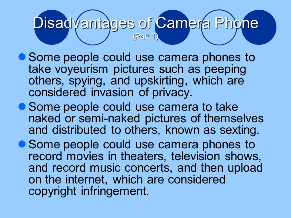 Camera phones and voyeurism