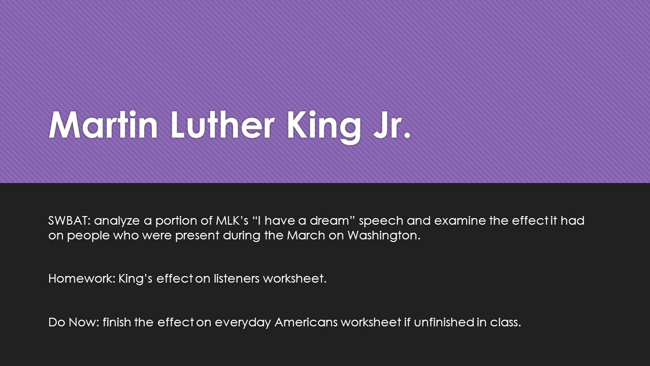 an analysis of the martin luthers king i have a dream speech This is an analysis of language devices used in martin luther king jr's 'i have a dream' speech for my year 9 english students' civil rights context study.