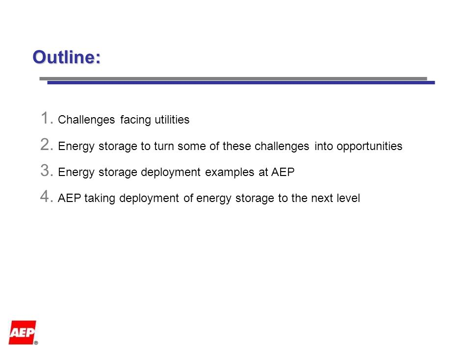 Energy Storage Applications at AEP Emeka Okafor American