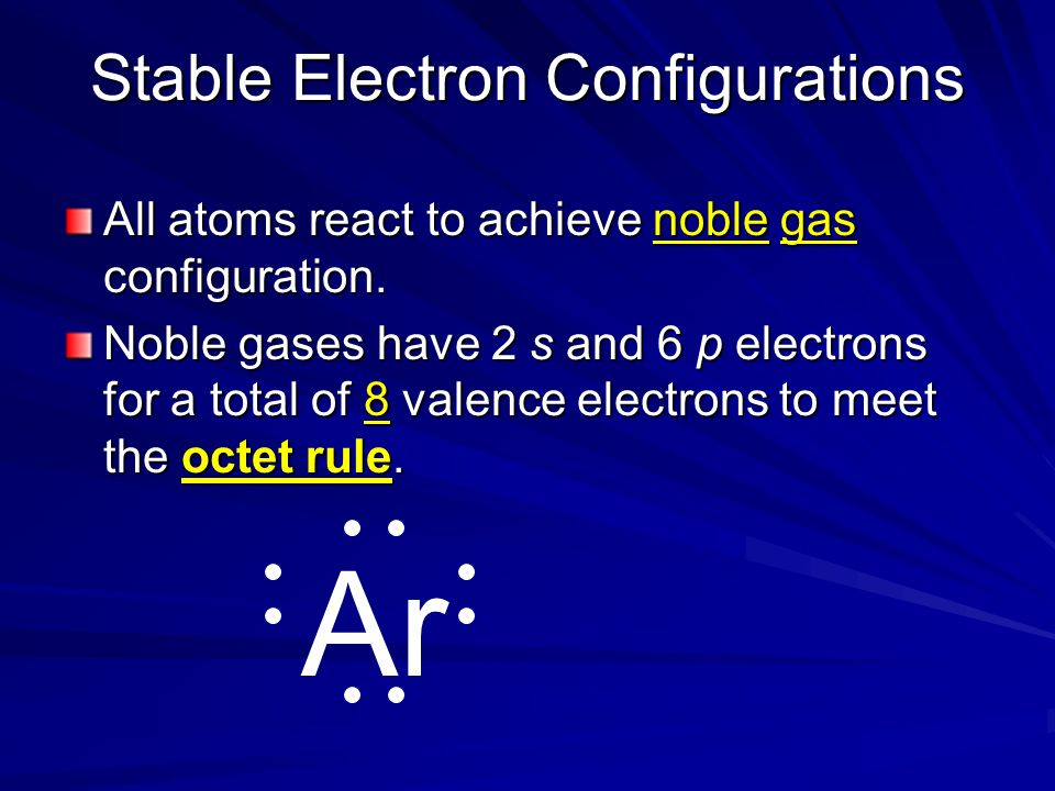 Electron Dots For Anions Nonmetals will have many valence electrons (usually 5 or more) They will gain electrons to fill outer shell.
