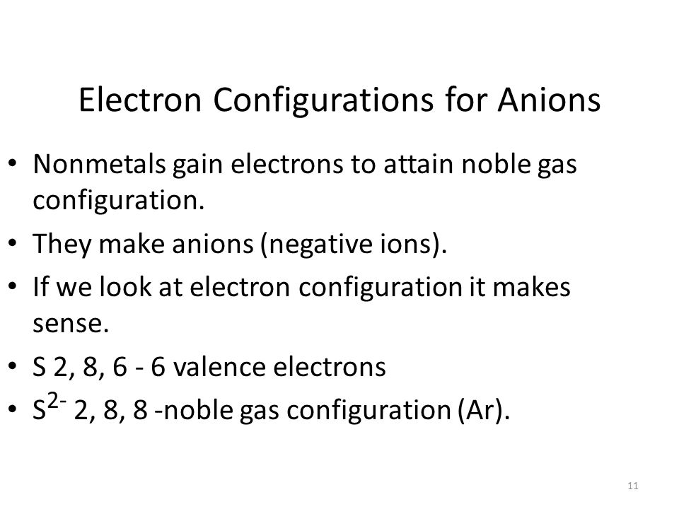 10 Electron Dots For Cations Metals will have very few valence electrons These will come off Forming cations (positive ions) Ca 2+
