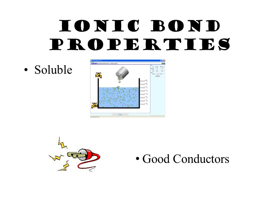 Ionic Bond Properties High melting points & usually solid at room temperature.