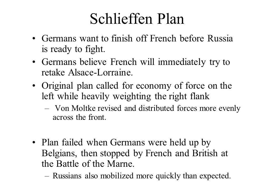 why did the von schlieffen plan fail