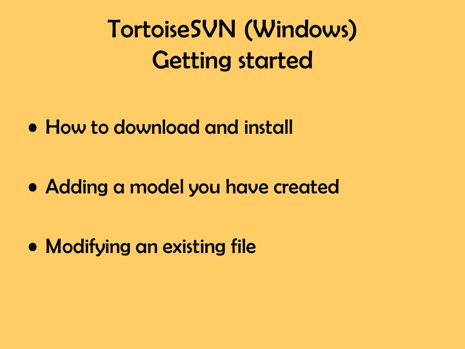 Using Subversion and TortoiseSVN for Windows by Galen