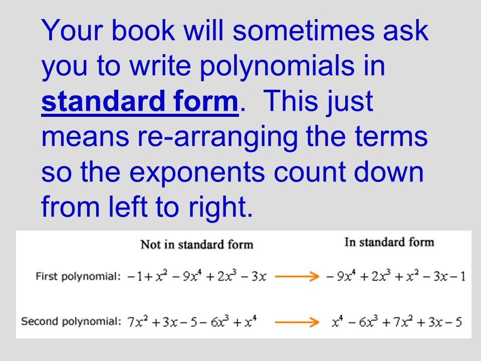 A Polynomial Is An Algebraic Expression That Includes Addition