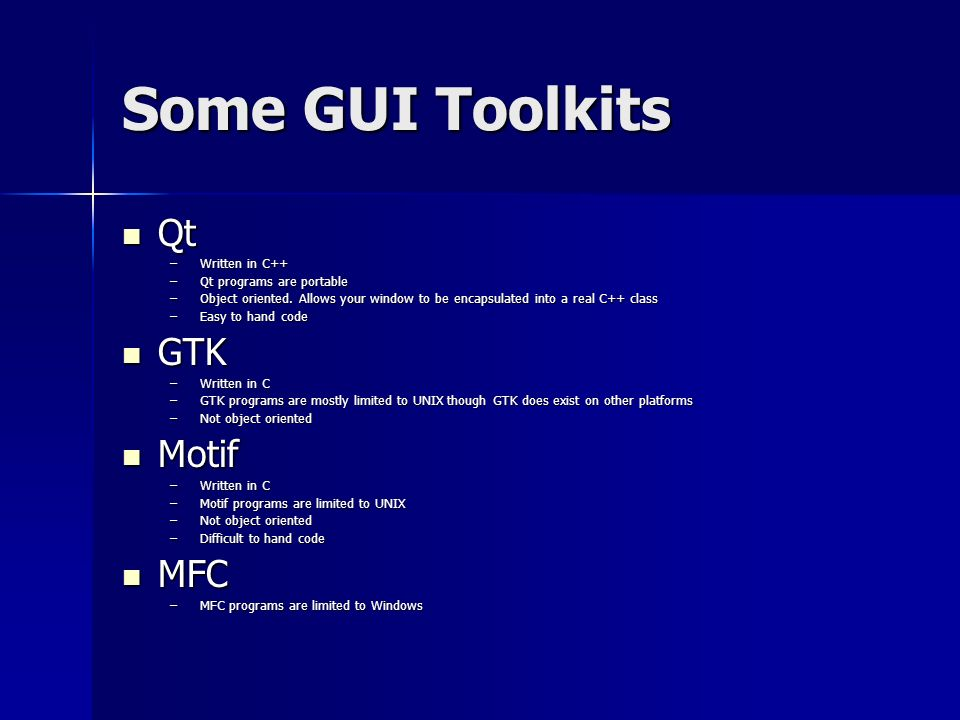 Using Qt for GUI development Brad Whitlock March ppt download