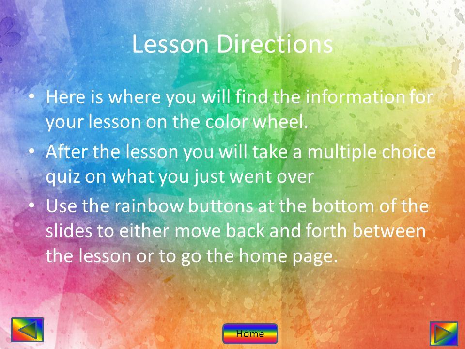 The Color Wheel Introduction Lesson Quiz Subject Art