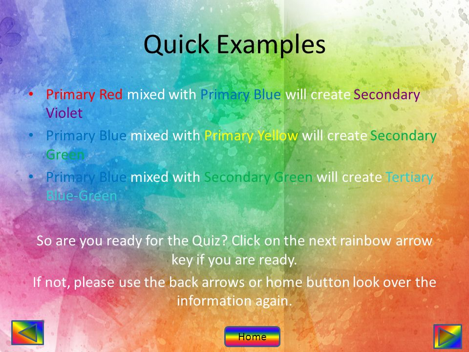 The Color Wheel Introduction Lesson Quiz Introduction Subject Art