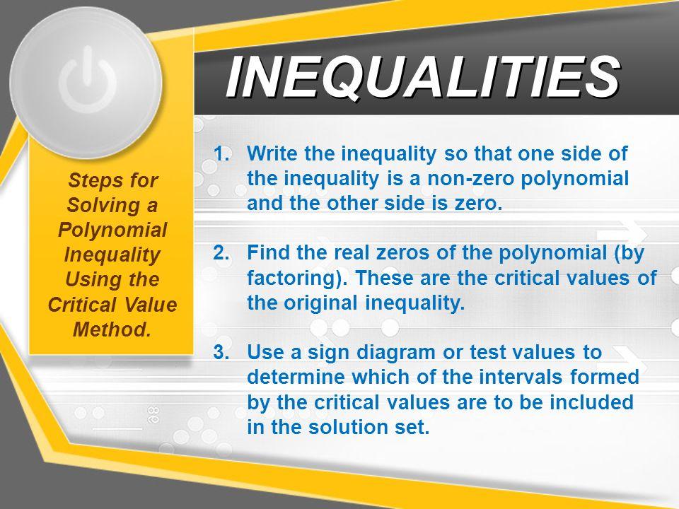 Inequalities Properties Of Inequalities Solving Inequalities