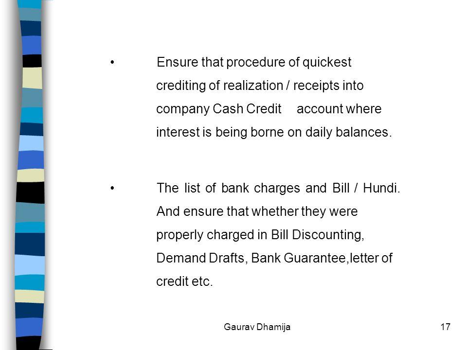 1 Guidance Note on Bank Gaurav Dhamija  2 Index S  No