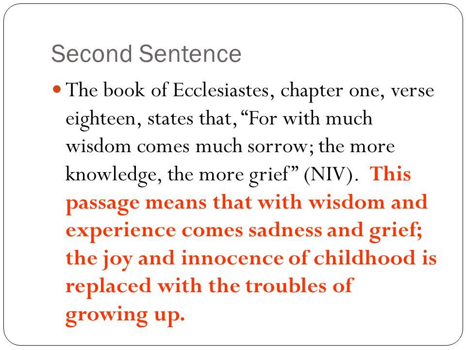 paragraph on wisdom