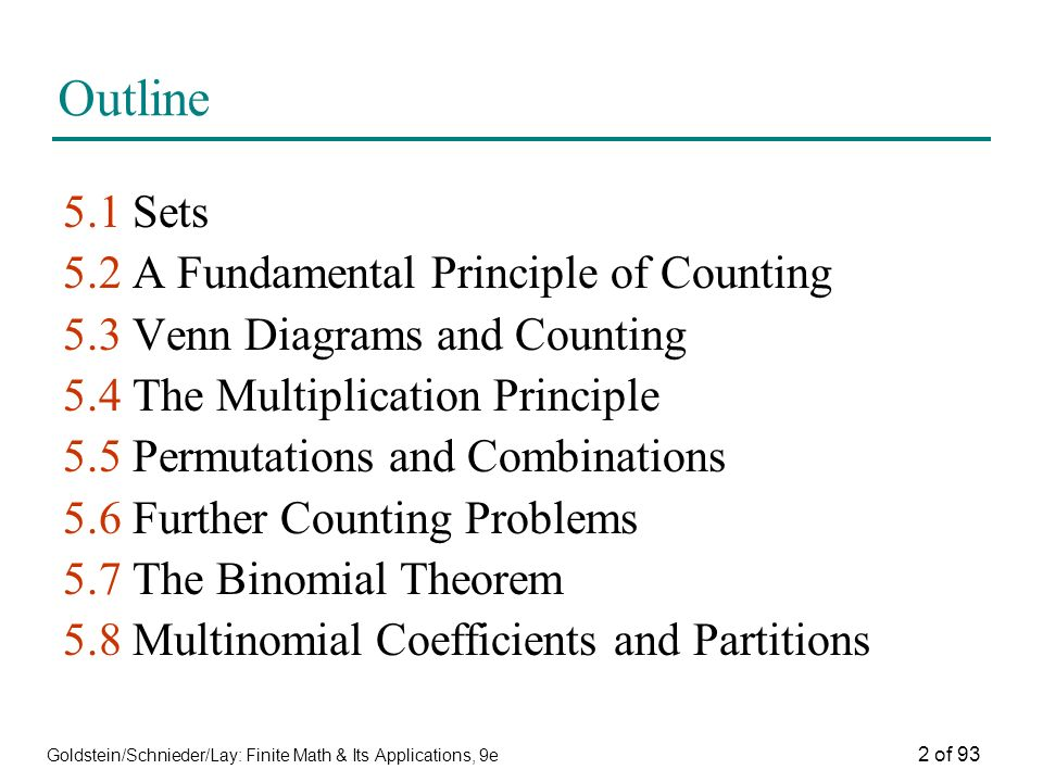 Goldsteinschniederlay finite math its applications 9e 1 of 93 2 ccuart Images