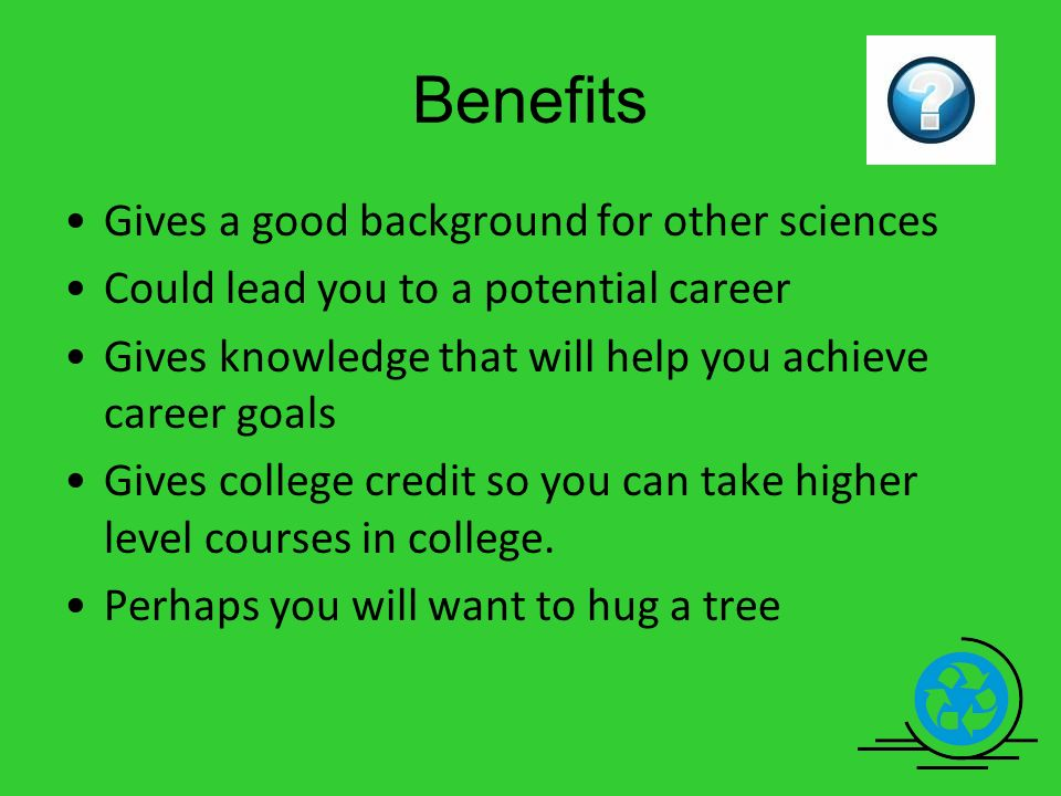 environmental science topics for college