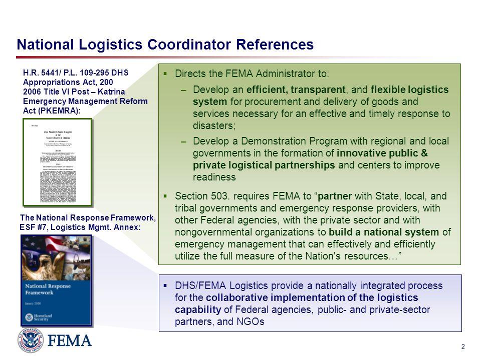 national logistics management