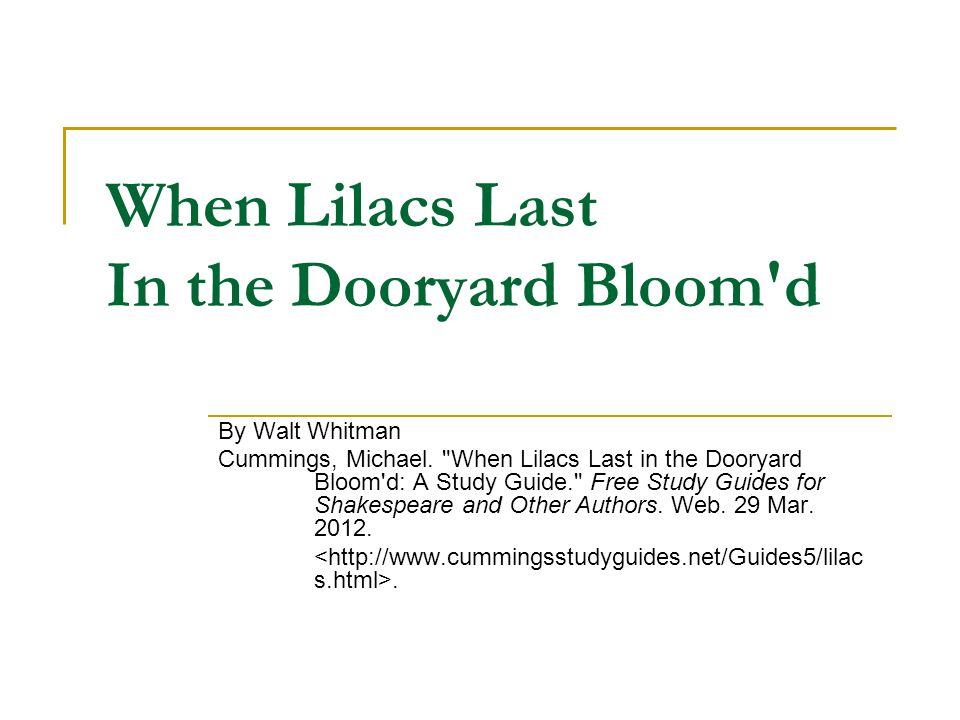 walt whitman lilacs