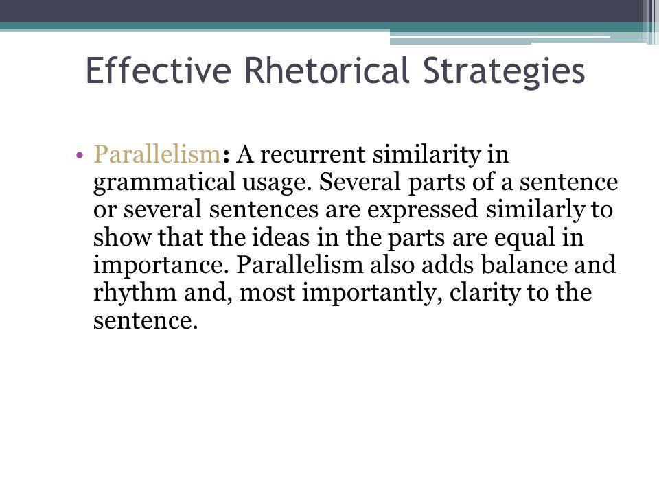 rhetorical strategies definition
