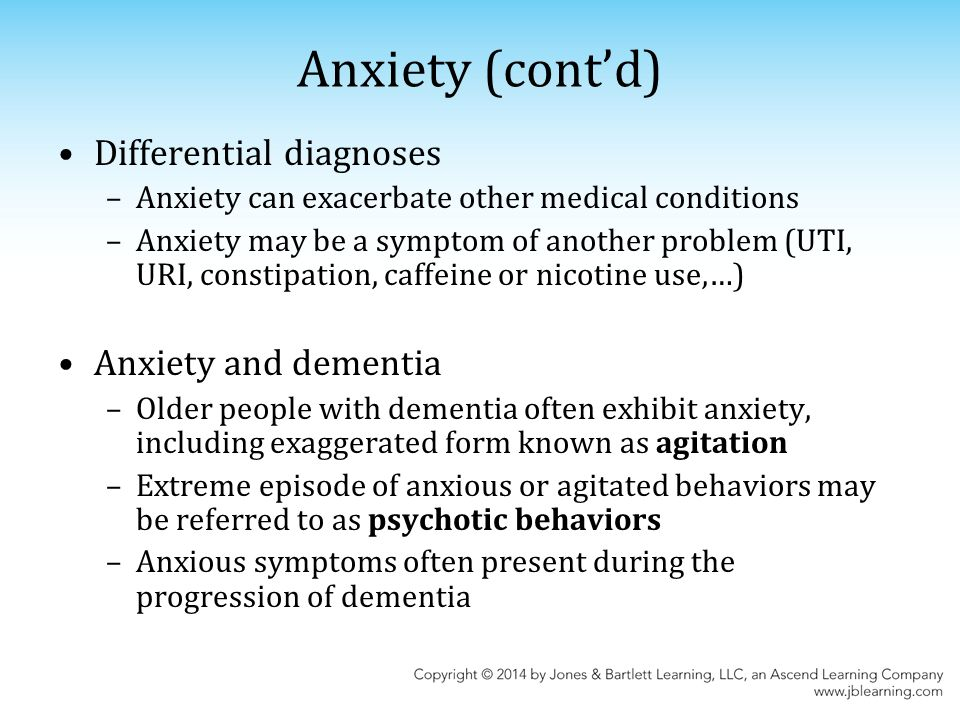 Chapter 14: Anxiety & Depression in the Older Adult  - ppt