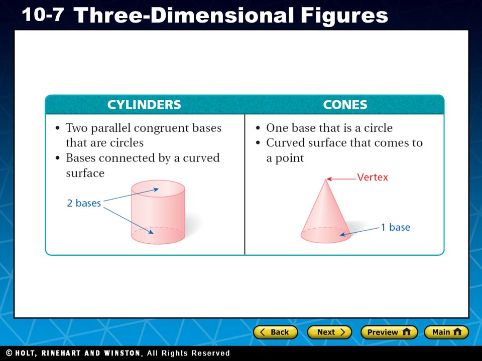 Holt CA Course Three-Dimensional Figures