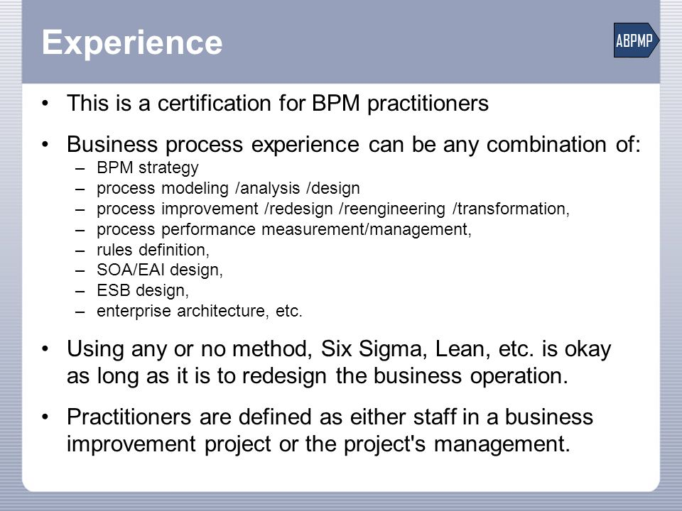 Introducing the Certified Business Process Professional (CBPP ...