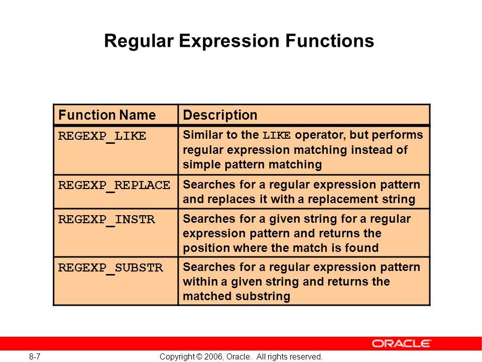 Oracle: примеры с regexp like youtube.