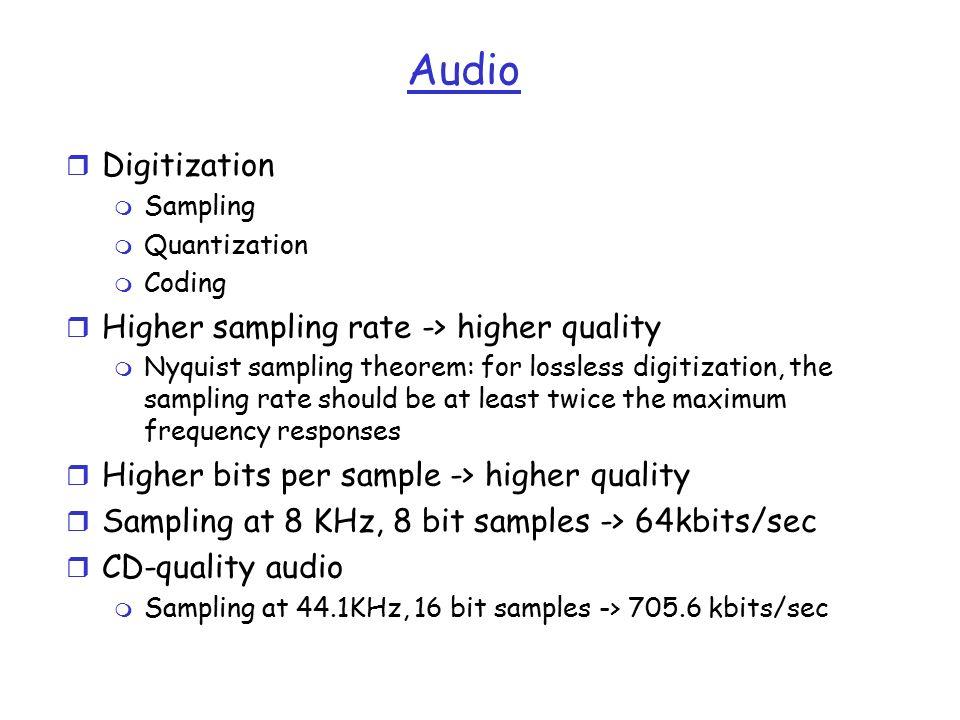 CIS679: Multimedia Basics r Multimedia data type r Basic