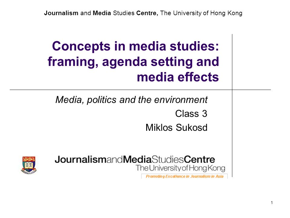 Journalism and Media Studies Centre, The University of Hong Kong 1 ...