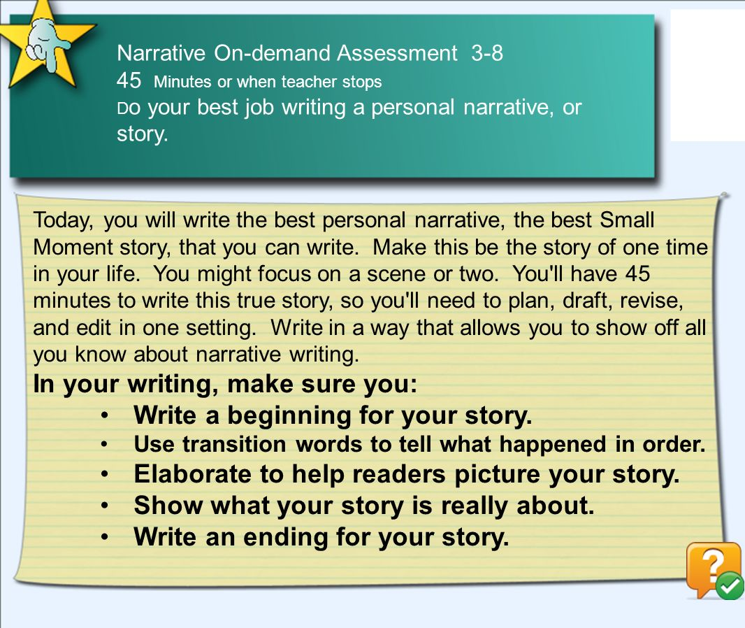 on demand assessment On-Demand Assessments Narrative Opinion Information Grades K-2 ...