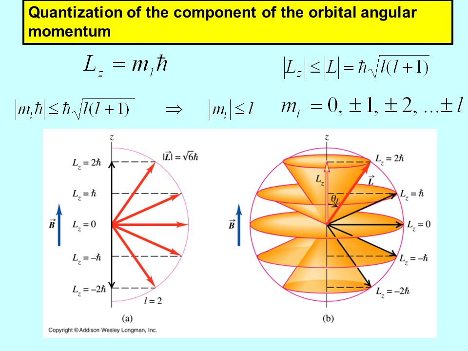 Quantization of the component of the orbital angular momentum