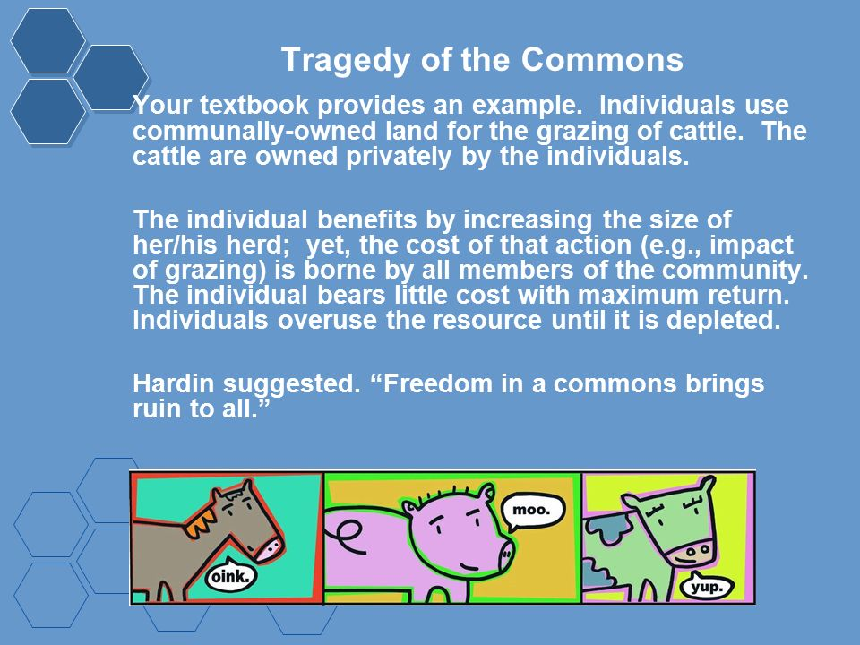 tragedy of the commons article questions Tragedy of the commons article questions 1 according to hardin's article there are some problems that have no scientific or technical solution.