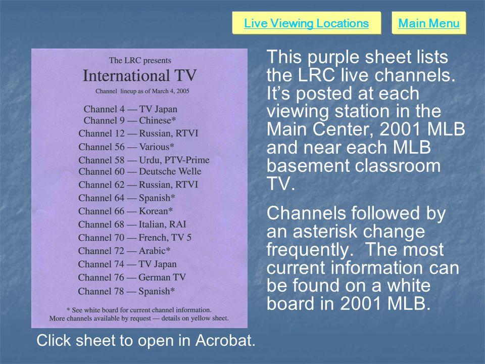 LRC International Satellite TV Reception Distribution Live Viewing
