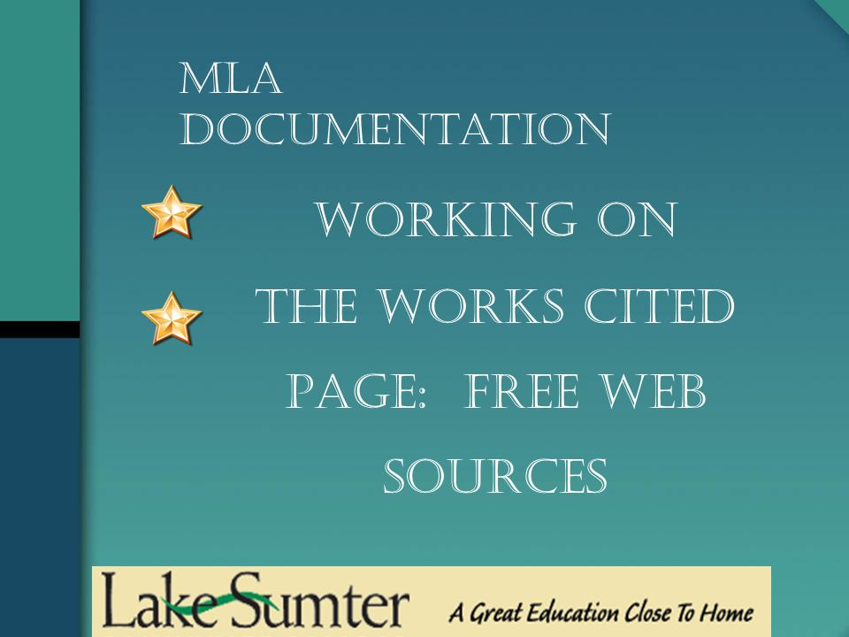 working on the works cited page free web sources mla documentation