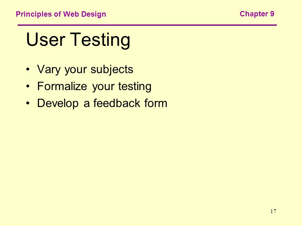 Chapter 9 Publishing And Maintaining Your Site 2 Principles Of Web