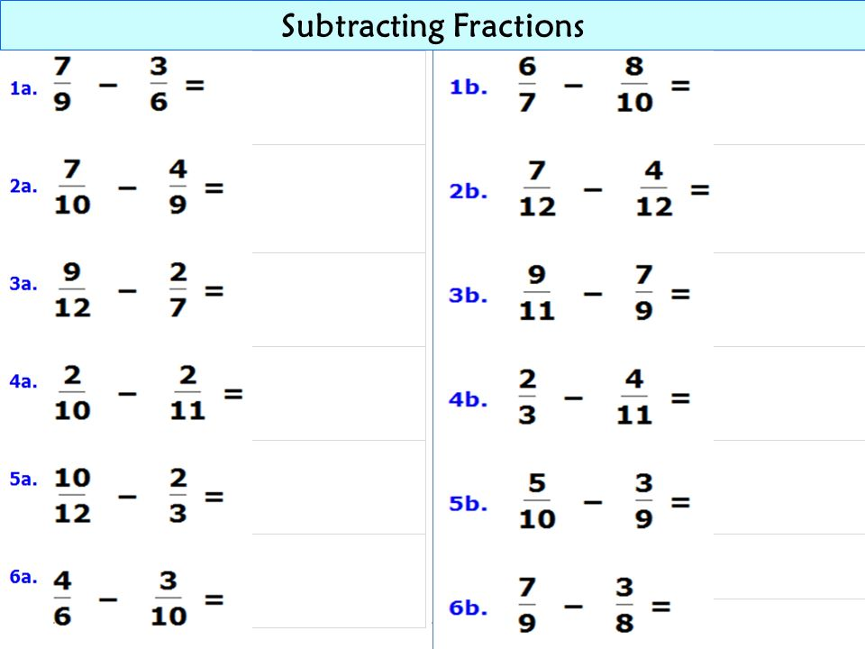 39 Subtracting Fractions Subtract Estimate the difference x = Find the least common denominator ~...(find the LCM of 14 and 6) ~ 14: 14, 28, 42, 56, 70, 84...