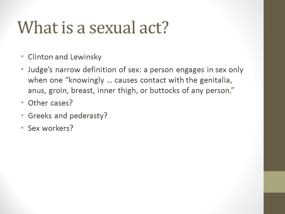 What is a sexual act