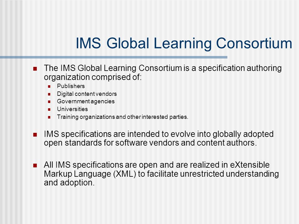 May 10 2002 les smith sct standards in distance education s ppt 15 ims malvernweather Choice Image