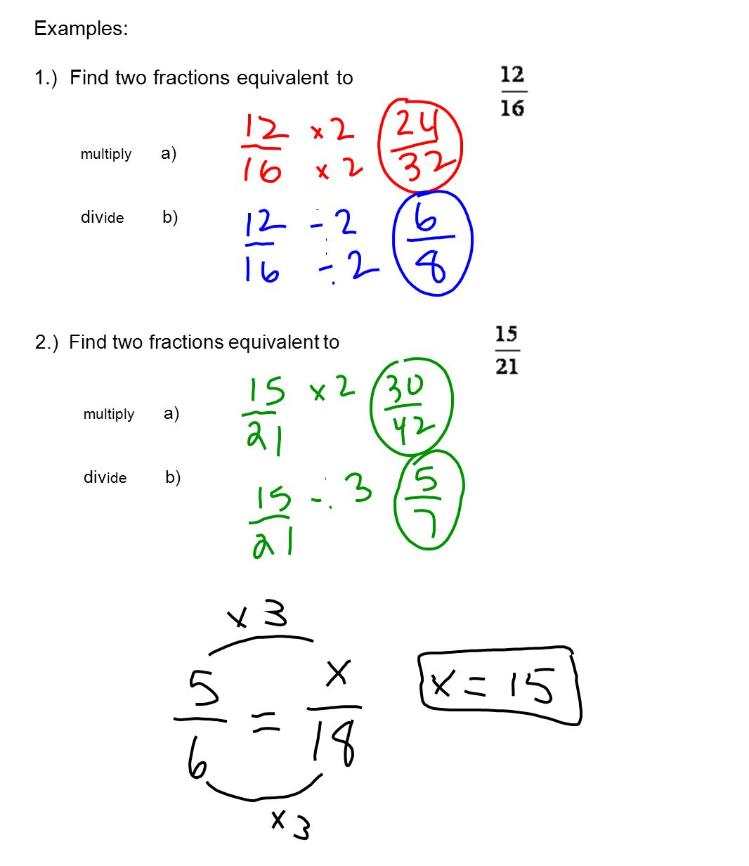 2-3 equivalent fractions and lowest terms a. equivalent fractions if