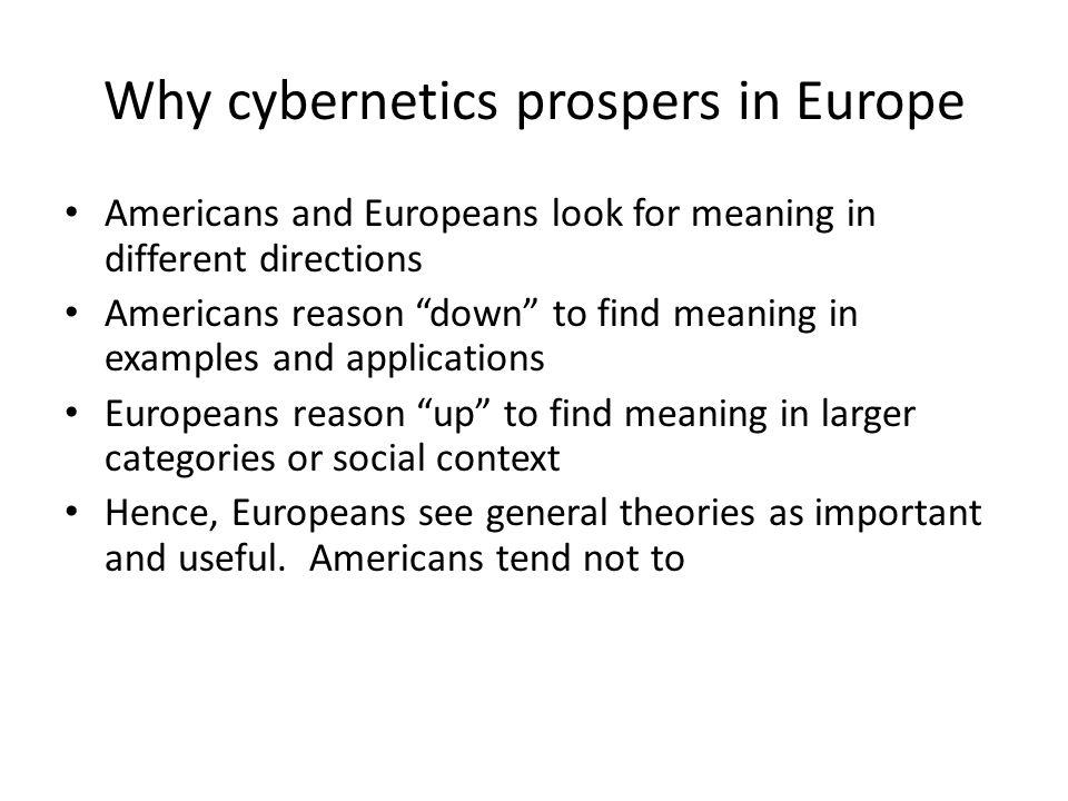cybernetics examples