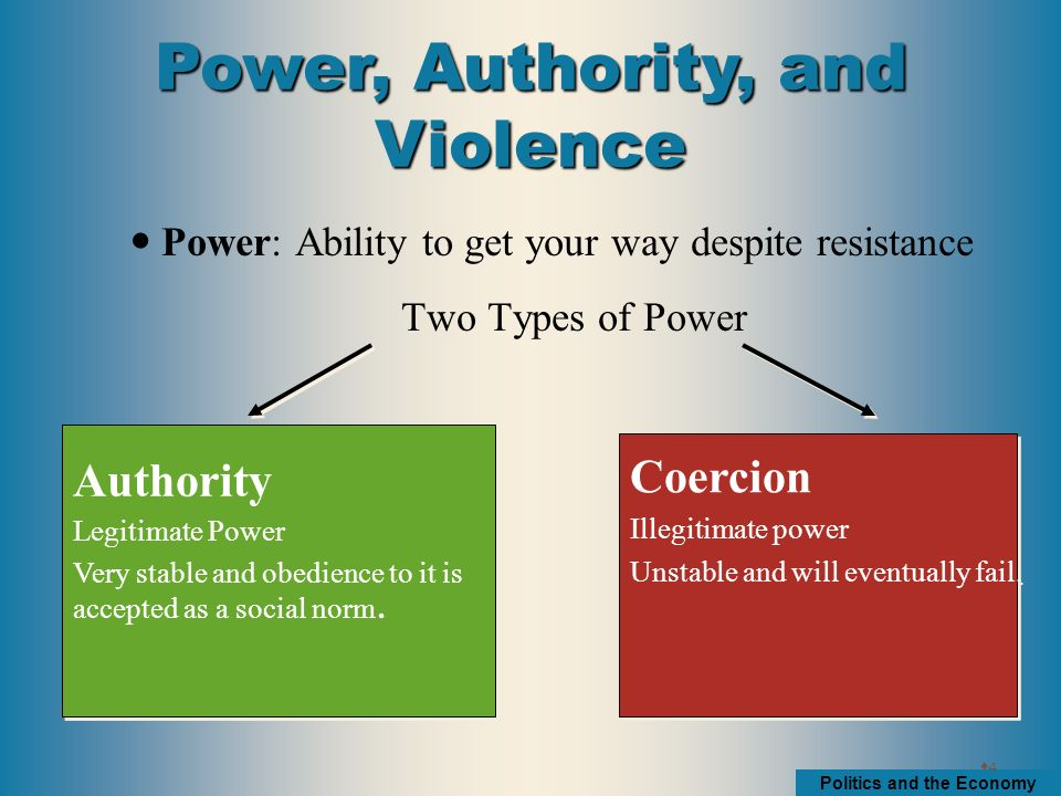 what is power and authority