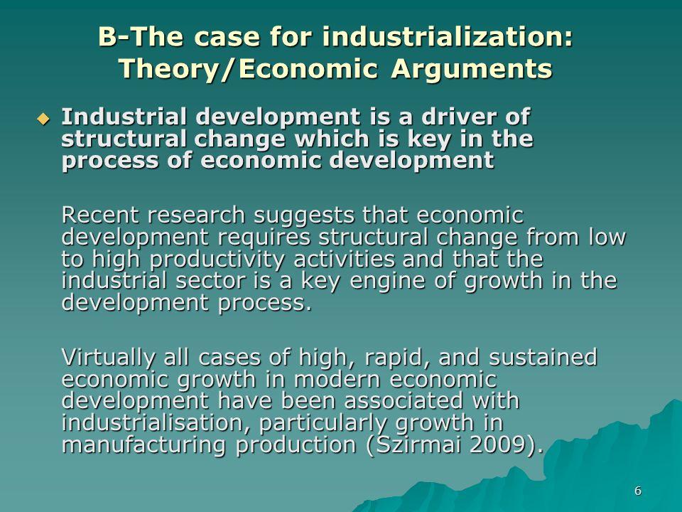 role of industrialisation in economic development