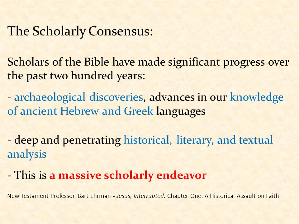 Image result for Scholarly consensus