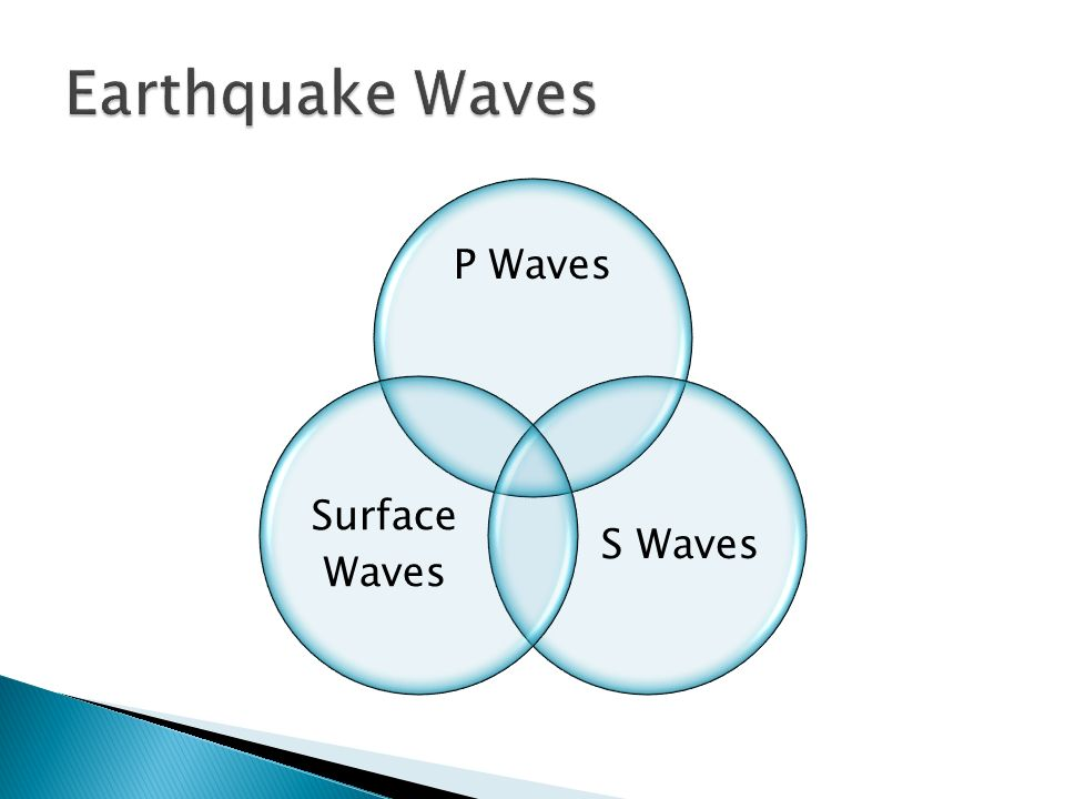 P Waves S Waves Surface Waves