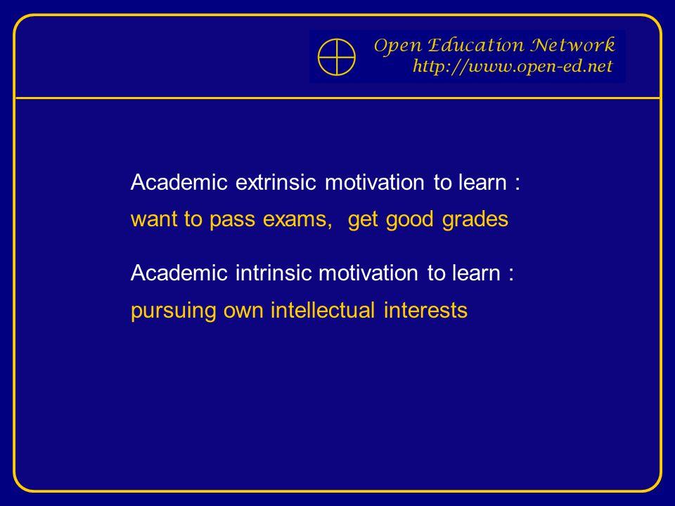 academic intrinsic motivation